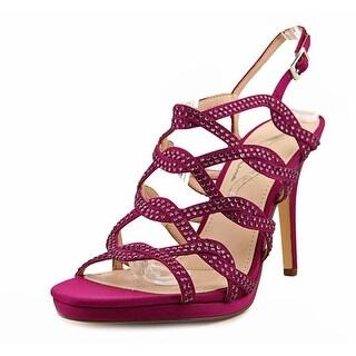 Nina Roisin-YG Women Open Toe Canvas Purple Sandals