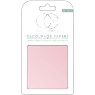"Pearlescent Baby Pink - Craft Consortium Decoupage Papers 13.78""X15.75"" 3/Pkg"