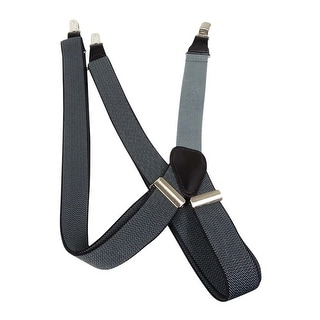 Club Room Men's 30mm Herringbone Suspenders (OS, Black/Grey) - os