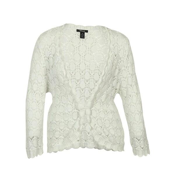 Style & Co. Women's Open Front Patterned Knit Cardigan