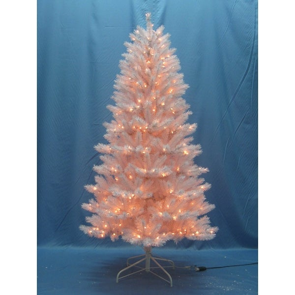 Christmas At Winterland Wl Tr 06 Wh Lww 6 Foot Classic White Pre Lit Christmas Tree With Warm White Lights And Metal Stand