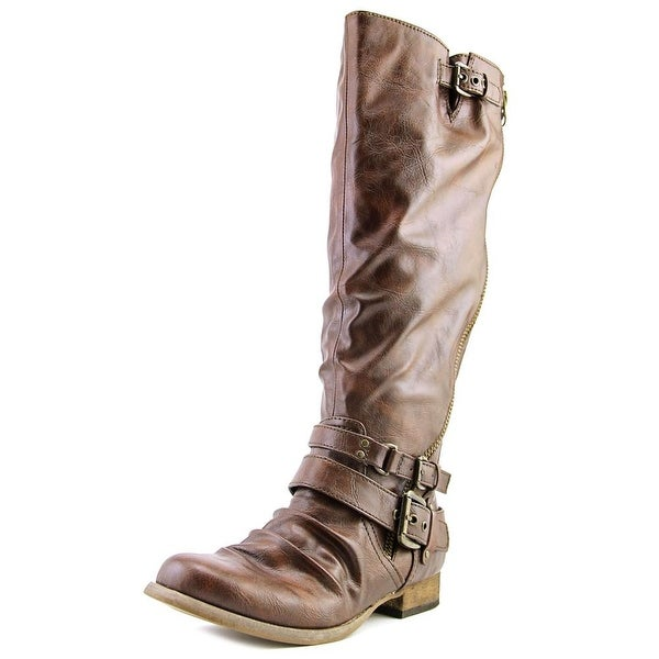 Carlos by Carlos Santana Hanna 2 Round Toe Leather Knee High Boot
