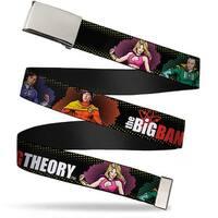 Blank Chrome  Buckle The Big Bang Theory Superhero Character Poses Web Belt