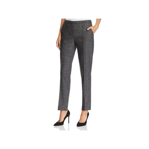 T Tahari Womens Karis Dress Pants Skinny Pleated