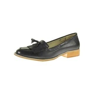 Steve Madden Womens Majorrr Loafers Fringe Faux Leather - 10 medium (b,m)
