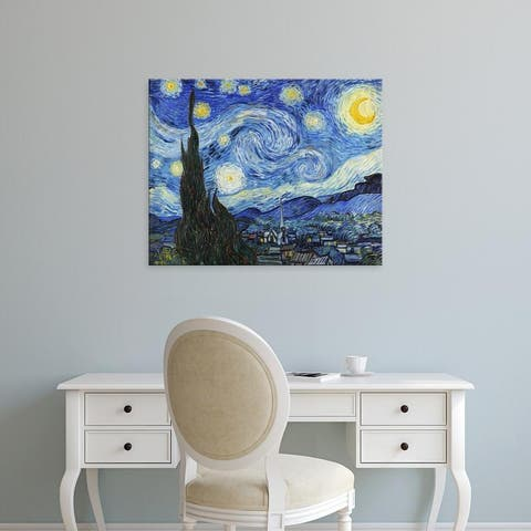 Easy Art Prints Vincent Van Gogh's 'Starry Night' Premium Canvas Art