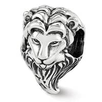 Sterling Silver Reflections Lion Bead (4mm Diameter Hole)