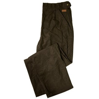 Outback Trading Overpants Mens Oilskin Overpants Waterproof Brown 2096