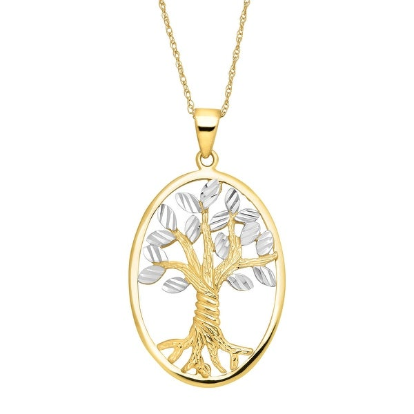 Eternity Gold Tree of Love Pendant in 14K Gold
