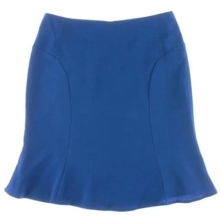 Calvin Klein Womens Petites Ruffled Knee-Length A-Line Skirt