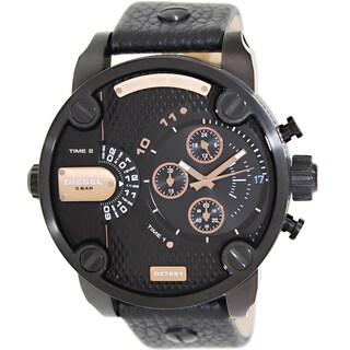 Diesel Men's Little Daddy DZ7291 Black Leather Quartz Fashion Watch