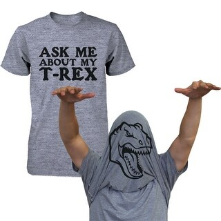 Ask Me About My T-Rex Shirt Funny Flip Up Dinosaur Tee Halloween Unisex T-shirt Funny Shirt