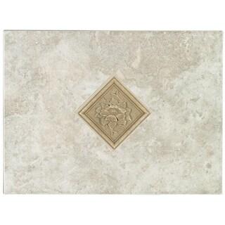 Mohawk Industries 5165 12 Inch Bianco Ceramic Tile Decorative Accent - N/A