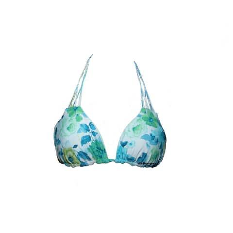 O'Neill Junior's Triangle Bikini Top, Floral Print (S)