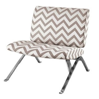 Monarch Specialties Fabric accent chair VII Armless Fabric Occasional Accent Chair with Metal Legs