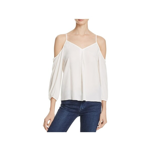Joie Womens Eclipse Casual Top Silk Cold Shoulder