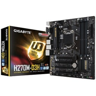 Gigabyte Ga-H270m-D3h Lga1151 Intel Micro Atx 2-Way Crossfire Ddr4 Usb 3.0 M.2 Smart Fan 5 Motherboard