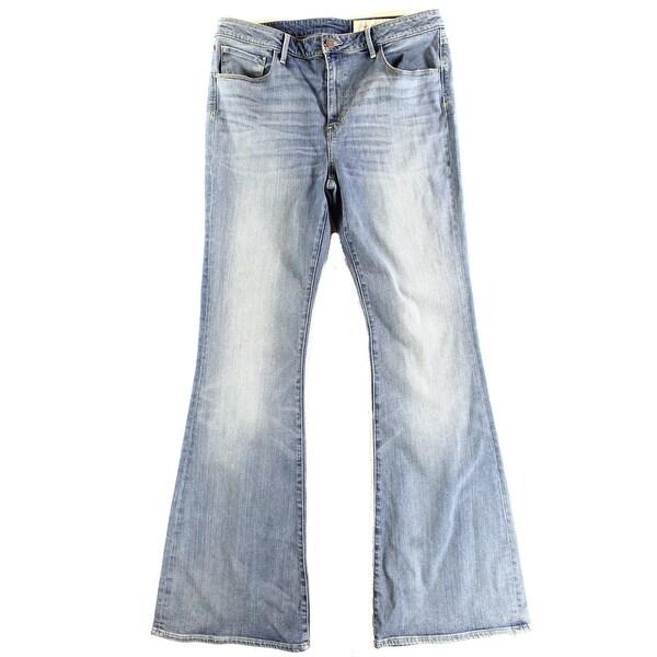 Treasure & Bond NEW Blue Women's 32X34 High Rise Skinny Flare Jeans