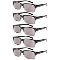 Eyekepper 5-pack Spring Hinges Vintage Reading Glasses Men Sun Readers +1.5