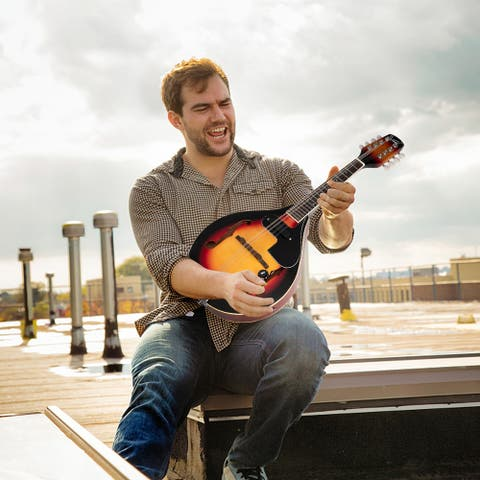 Glarry Style 8-String Acoustic Electric Mandolin Double-Duty Mandolin