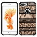 Insten Brown/ Black Zebra Hard PC/ Silicone Dual Layer Hybrid Rubberized Matte Case Cover For Apple iPhone 7 Plus - Thumbnail 0