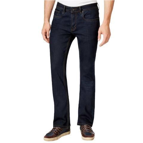 Buffalo David Bitton Mens Solid Slim Fit Jeans, Blue, 32W x 32L - 32W x 32L