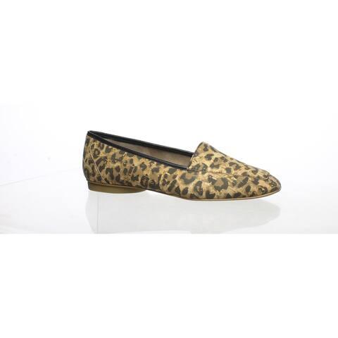 Donald J Pliner Womens Deedee Leopard Cork Loafers Size 5