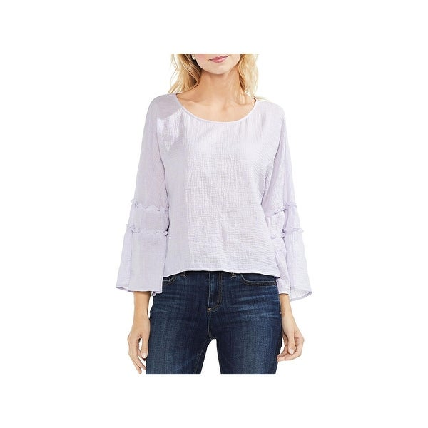 Vince Camuto Womens Blouse Crinkle Pleated
