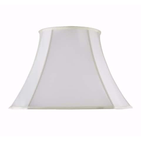 "Aspen Creative Scallop Bell Shape Spider Construction Lamp Shade in Off White (10"" x 18"" x 13 1/2"")"