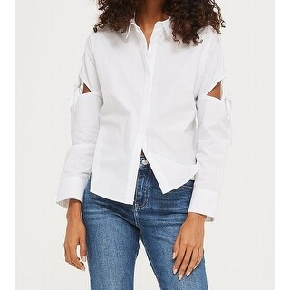 TopShop Cutout Women's Button Down Shirt Cotton