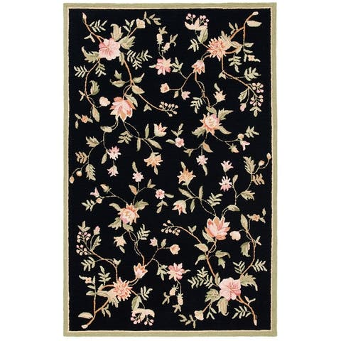 SAFAVIEH Handmade Chelsea Alexandr Floral French Country Wool Rug