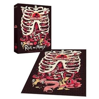 Rick and Morty Anatomy Park 1000 Piece Premium Puzzle - multi