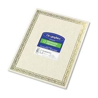 Foil Stamped Award Certificates, 8.5 x 11, Gold Serpentine