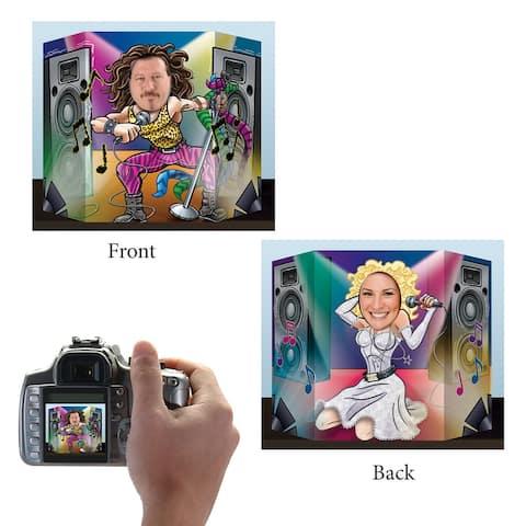 "Set of 6 Vibrantly Colored 80's Rocker Digital Photo Prop 17.25"""