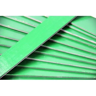 25 Green Wooden Straight Edges with Metal Strips Office Supplies - 12""
