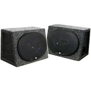AUDIOP CSB69 6x9 in. 250W Car Audio Speakers Loaded Enclosures