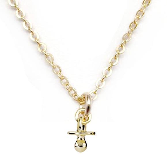 "Julieta Jewelry Pacifier Gold Charm 16"" Necklace"