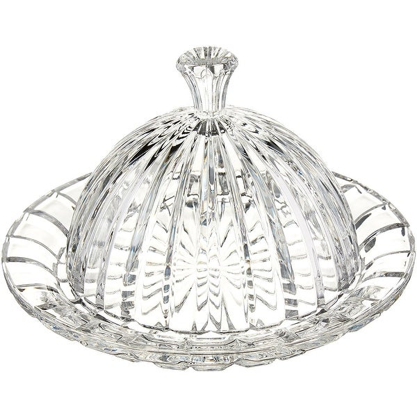 Crystal Clear Alexandria Cheese Plate With Dome