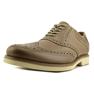 Bass JAX Men  Wingtip Toe Leather Brown Oxford