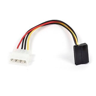 SATA 15pin Female to Molex 4pin Male Power Adapter (90 Degree)