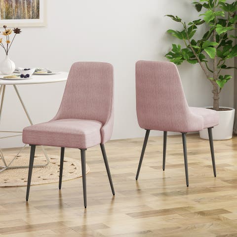 Alnoor Modern Armless Fabric Dining Chairs (Set of 2) by Christopher Knight Home - N/A