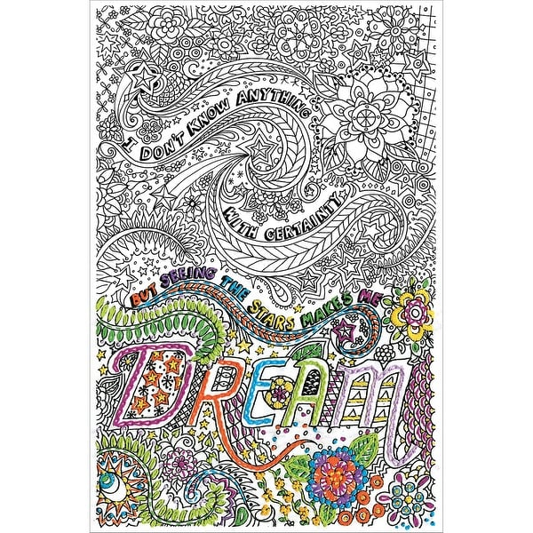 "Zenbroidery Stamped Embroidery 10""X16""-Dream"