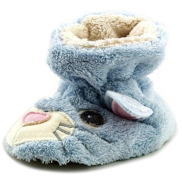 Acorn Easy Critter Ladybug Infant Round Toe Canvas Blue Slipper