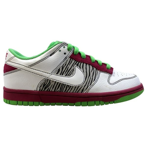 huge discount 85064 9c1a1 Nike Dunk Low 6.0 Rave Pink White-Mean Green 314141-611 Women s