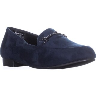 Wanted Saddlery Chain Link Loafers, Navy - 8.5 us / 39 eu