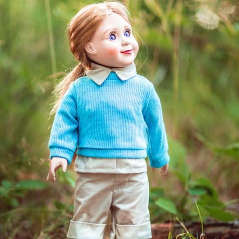 Dr. Jane Goodall Inspired 18 Inch Doll Clothes 3 Pc Gombe Research Camp Outfit. Fits American Girl Dolls