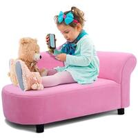 Costway Kids Sofa Armrest Chair Couch Lounge in Pink