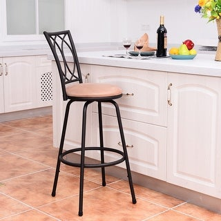 Costway 1 PC Swivel Bar Stool Modern Counter Height Barstool Bistro Pub Chair