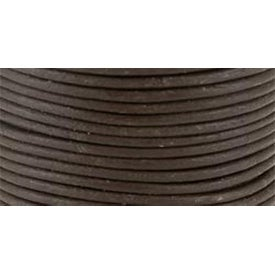 Brown - Round Leather Lace 2mmX25yd Spool