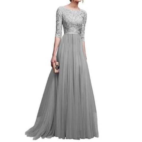 8-Color Chiffon Evening Dress